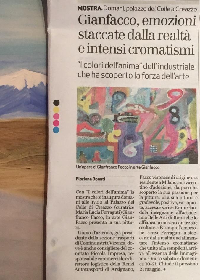 Art. Giornale di Vicenza
